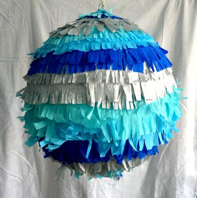 pinata boule bleue